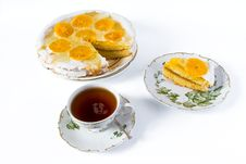 Free Cup Of Tea And Orange Cake Royalty Free Stock Photography - 16473177