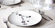A Dinner Plate Stock Photo