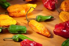 Assorted Hot Peppers Royalty Free Stock Photo