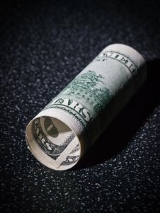 Free Tube From Dollars Greenback Royalty Free Stock Images - 16476269