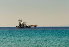 Fishing Boat Goes To Fish Stock Photo