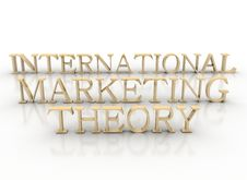 Free 3d Spelling International Marketing Theory Stock Photo - 16477050