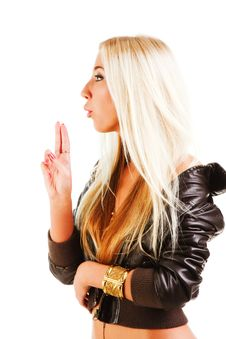 Free Beautiful Blonde Young Girl In Jacket Stock Photos - 16477073