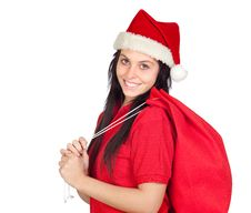 Free Beautiful Girl With Christmas Hat Stock Photos - 16477753