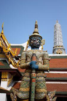 A Thai Temple Guard Royalty Free Stock Photos