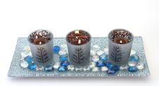 Free Three Christmas Candles Royalty Free Stock Photos - 16477988