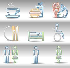 Free Rest And Entertainments Icons Stock Images - 16478004
