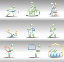 Free Rest And Entertainments Icons Royalty Free Stock Photography - 16478017