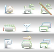 Free Rest And Entertainments Icons Stock Photography - 16478032