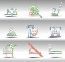 Free Rest And Entertainments Icons Stock Image - 16478041