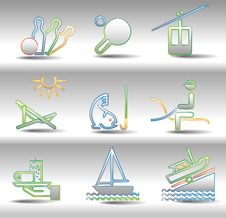 Free Rest And Entertainments Icons Royalty Free Stock Photos - 16478048