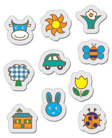 Free Children S Stickers Royalty Free Stock Photos - 16478188