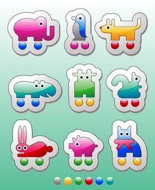 Free Children S Stickers Stock Image - 16478191