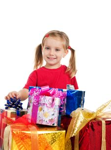 Free Girl Wih The Gifts Stock Image - 16479291