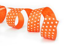Free Curled Orange Ribbon Royalty Free Stock Image - 16479416