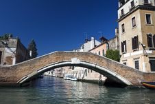 Free Canal And Bridge In Venice Stock Photo - 16479670