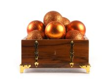 Free A Chest Full Of Golden Christmals Balls Stock Image - 16479921