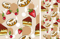 Free Seamless Background With Desserts Royalty Free Stock Images - 16481549