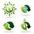 Free Green Recycling Symbols Royalty Free Stock Image - 16481836