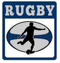 Free Rugby Player Kicking Ball Stock Photo - 16482790