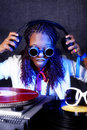 Free Afro American DJ In Action Royalty Free Stock Photography - 16485367