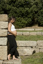 Free Beautiful Pregnant Woman Relaxing Royalty Free Stock Photo - 16486485