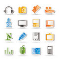 Free Media Equipment Icons Stock Images - 16487404
