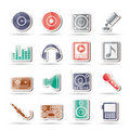 Free Music And Sound Icons Royalty Free Stock Photography - 16487777