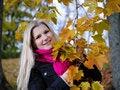 Free Beautiful Autumn Woman Near Yellow Tree Stock Image - 16489771