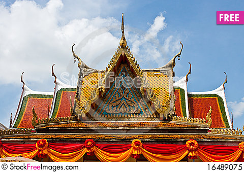 Free Roof Of The Temple Royalty Free Stock Photo - 16489075