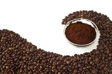 Free Coffee Beans And Ground Coffee Stock Images - 16480074