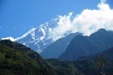 Free Snow And Mountains In Nepal Royalty Free Stock Images - 16480149