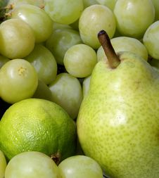 Free A Set Of Different Healthy And Tasty Green Fruits Stock Photos - 16480353