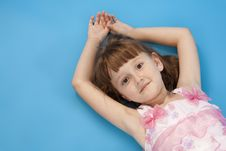 Free Small Girl Lies Relax. Royalty Free Stock Photography - 16480517