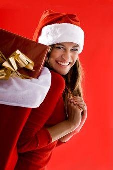 Free Cheerful Santa Girl Stock Photos - 16480753