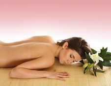 An Attractive Woman Is Getting Spa Treatment Royalty Free Stock Images