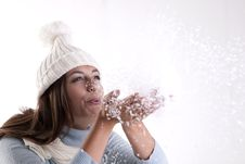 Free Winter Woman Stock Photography - 16481142