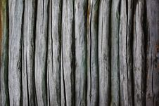 Fence From Logs