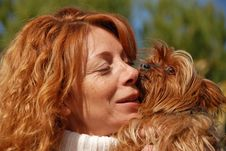 Free Woman And Little Dog Stock Images - 16481674