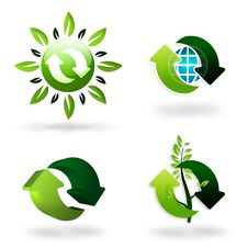 Free Green Recycling Symbols Royalty Free Stock Image - 16481836
