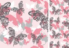 Free Seamless Background With Butterflies Stock Images - 16481874