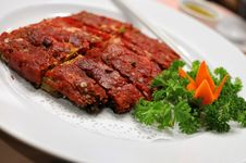 Free Chinese Vegetarian Deep Fried Pork Slices Stock Photos - 16482343