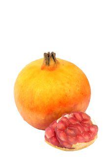 Free Pomegranate Fruits Yellow. Stock Image - 16482411