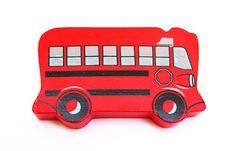 Free Red Bus Stock Photography - 16483302