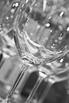 Free Empty Wine Glasses Royalty Free Stock Photo - 16483395
