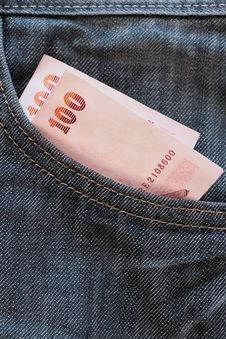 Free Money In Jean Stock Photography - 16483652