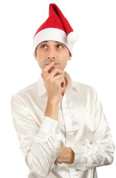 Free Man Wearing A Santa Claus Hat Stock Photography - 16484602
