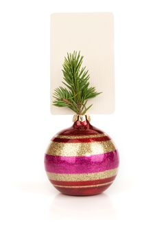 Free Blank Card And Christmas Ball Royalty Free Stock Photography - 16484777