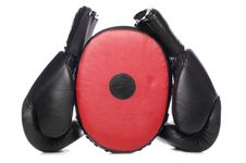 Free Boxing Gloves And Pad Royalty Free Stock Images - 16485119