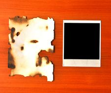 Free Old Photos And Burnt Paper Stock Image - 16485241